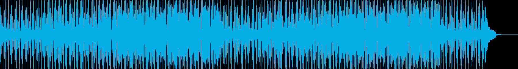 ワクワク楽しい雰囲気の軽快なBGMの再生済みの波形
