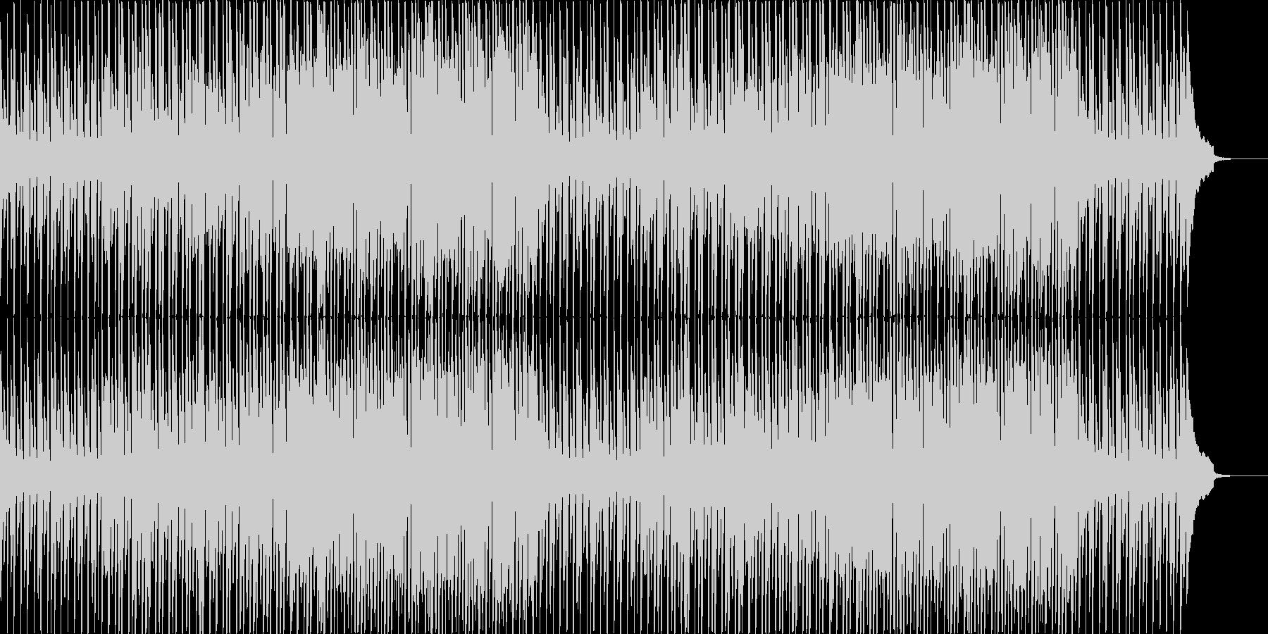 ワクワク楽しい雰囲気の軽快なBGMの未再生の波形