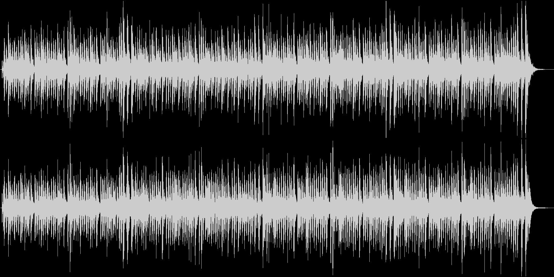 コミカルでポップなルンバ調のジングルの未再生の波形