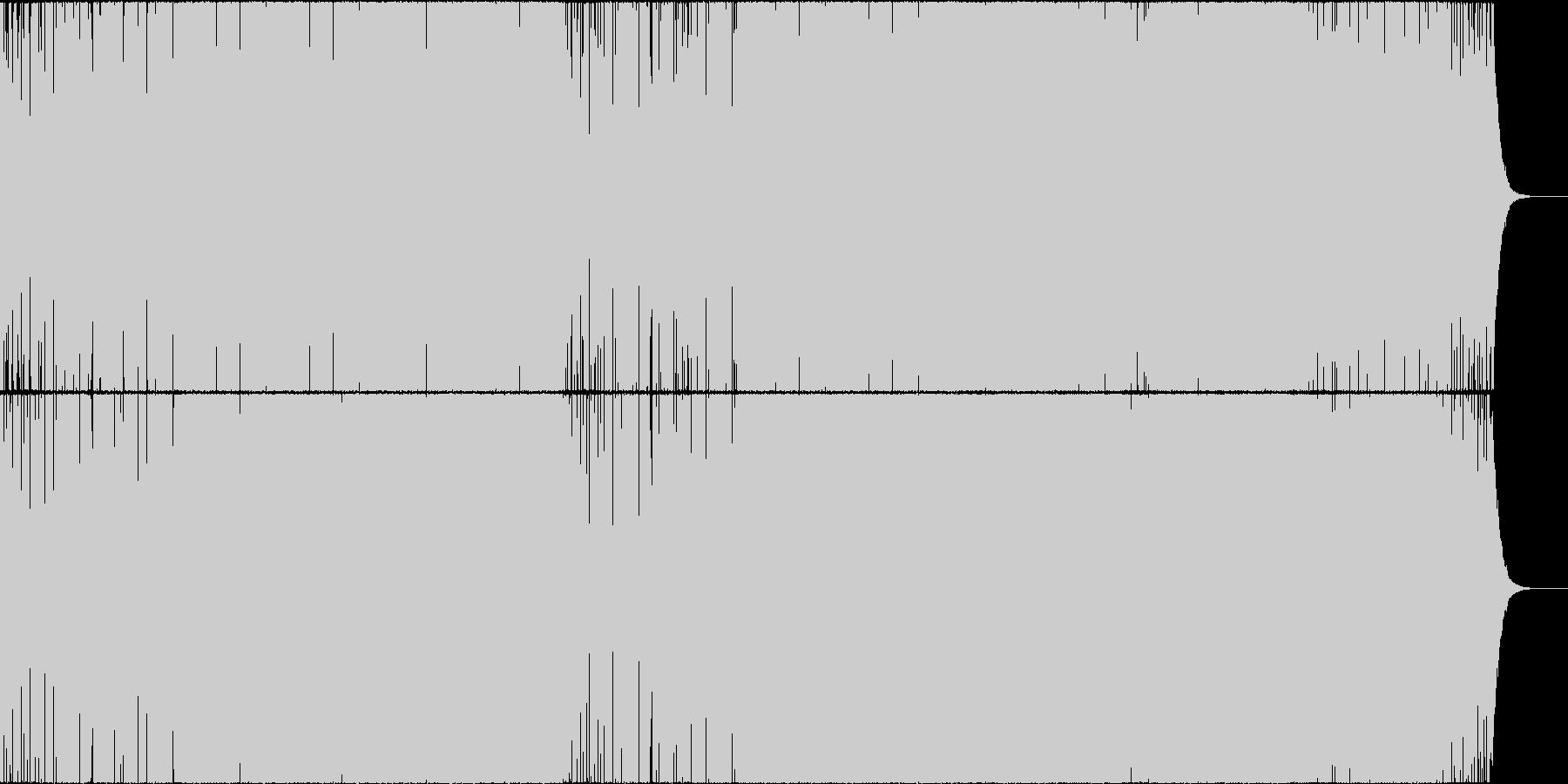 明るく透明感あるキラキラオシャレなハウスの未再生の波形