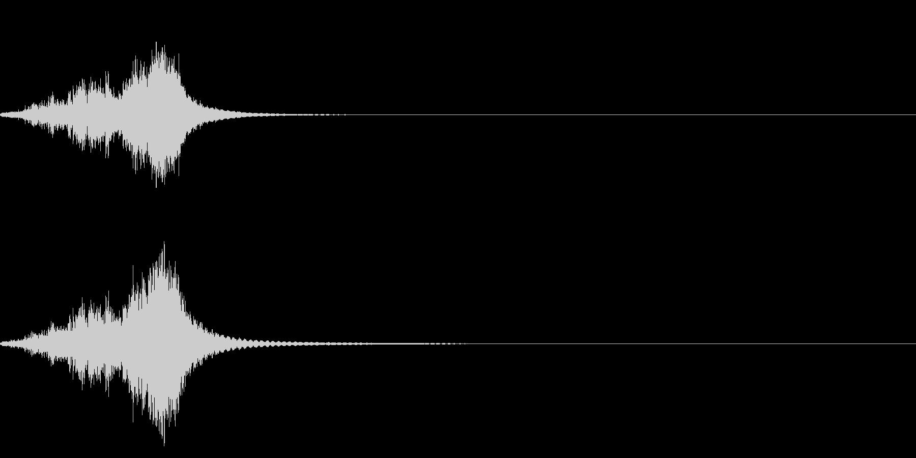 シャキーン(剣を抜く音)の未再生の波形