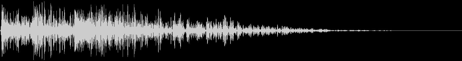 メカ挙動音、衝撃音(ガチャン)の未再生の波形