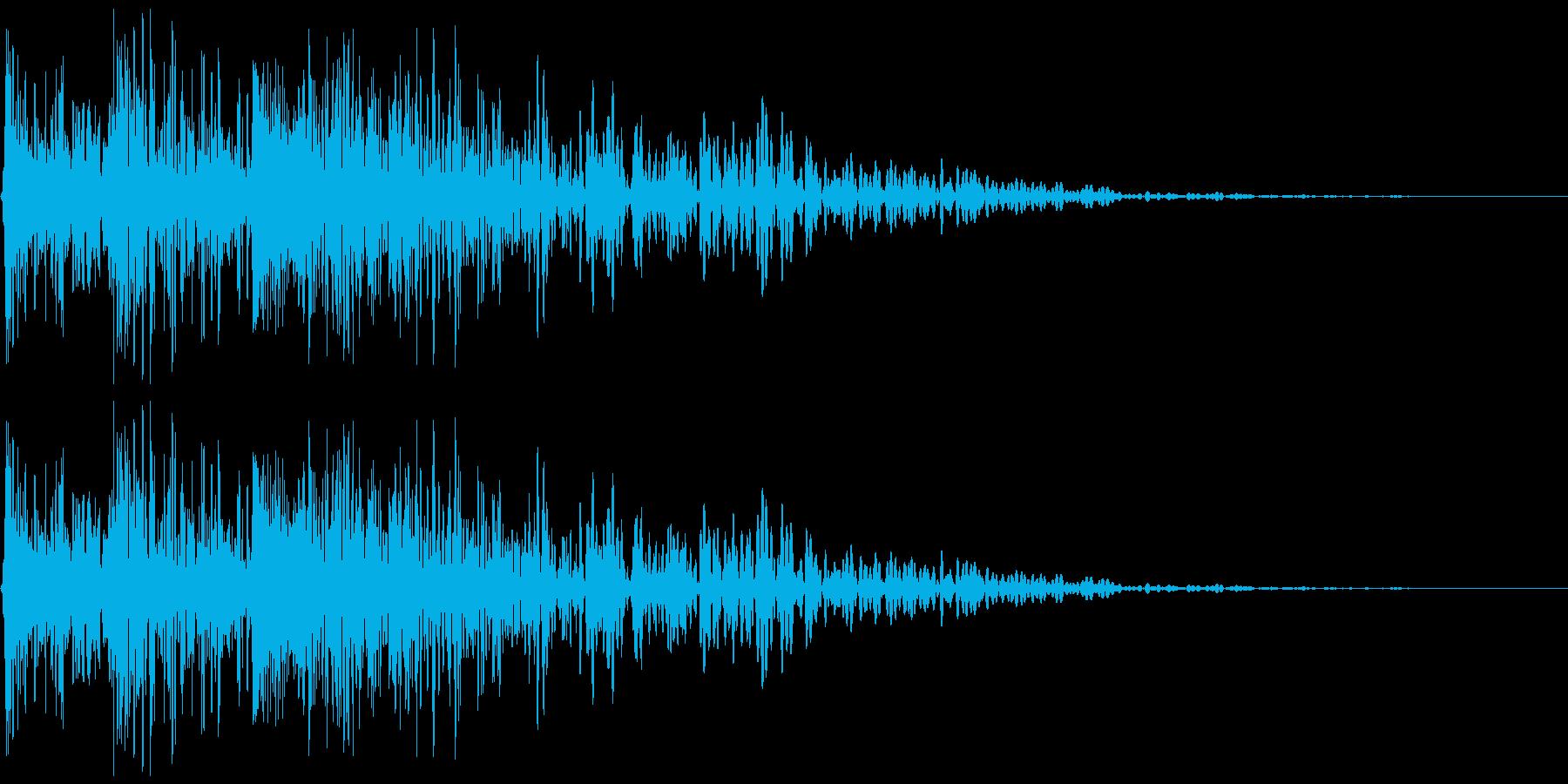 メカ挙動音、衝撃音(ガチャン)の再生済みの波形