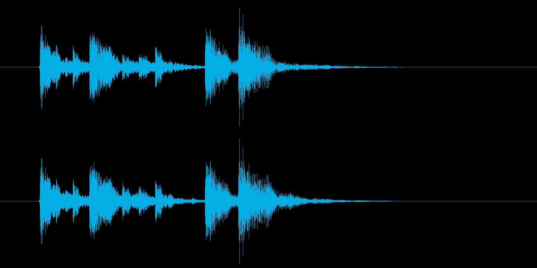 爽やか木琴打楽器音(アニメ、ジングル)の再生済みの波形