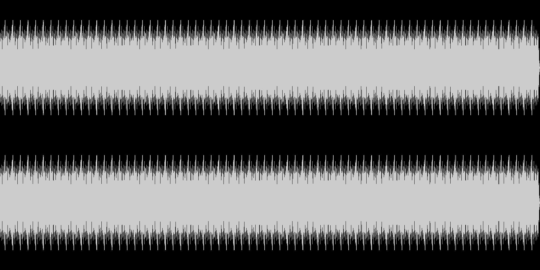 ゴー(水中にいる時のノイズ)の未再生の波形