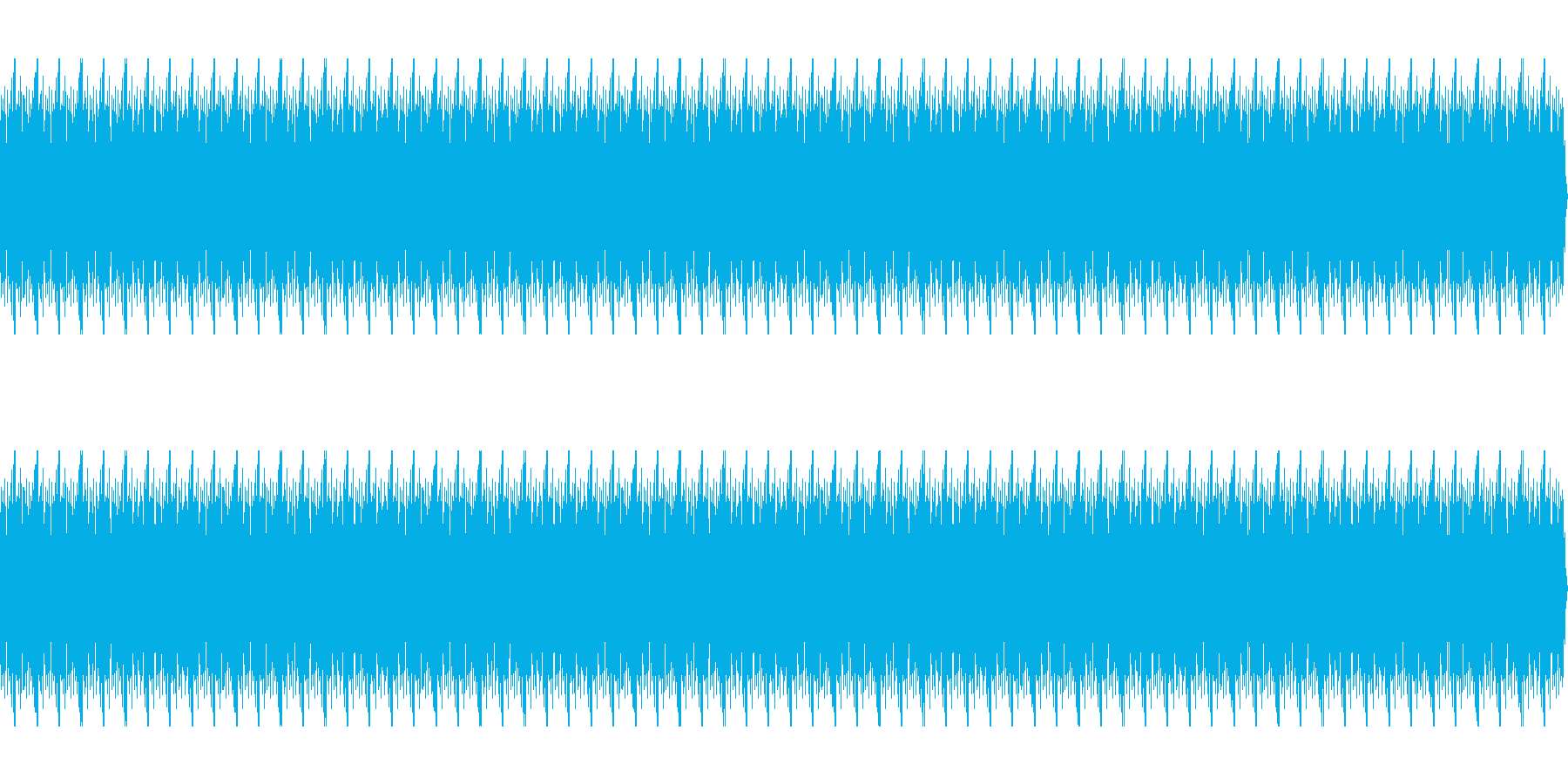 ゴー(水中にいる時のノイズ)の再生済みの波形