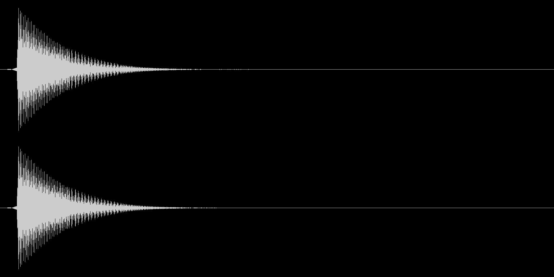 選択/ピッ/レトロの未再生の波形