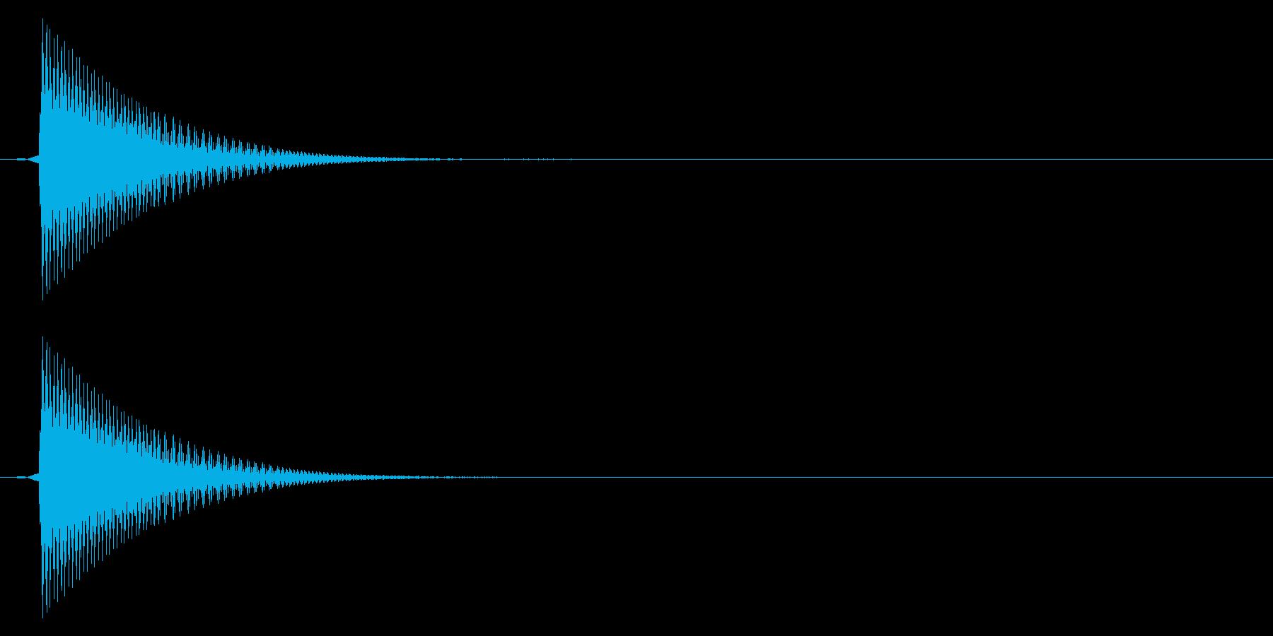 選択/ピッ/レトロの再生済みの波形