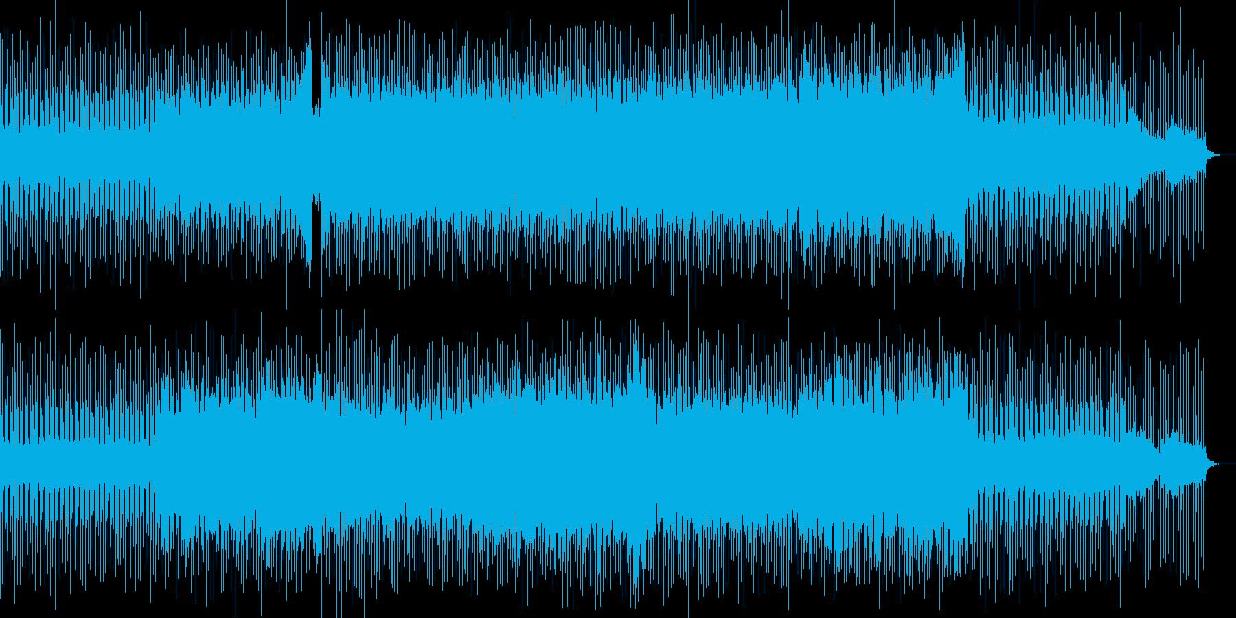 明るく優しいベル音が印象的なポップス曲の再生済みの波形