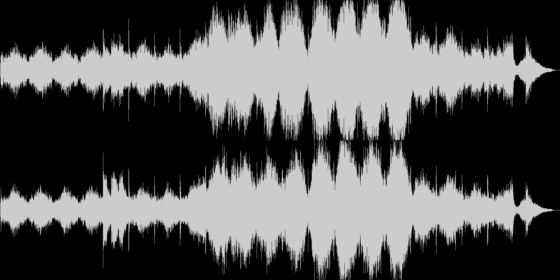 ホラーな雰囲気のオーケストラの未再生の波形