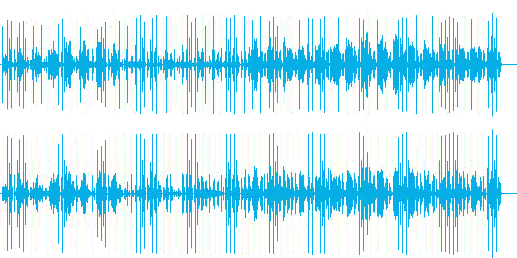 ドキドキ感とミステリアスなシンセテクノの再生済みの波形