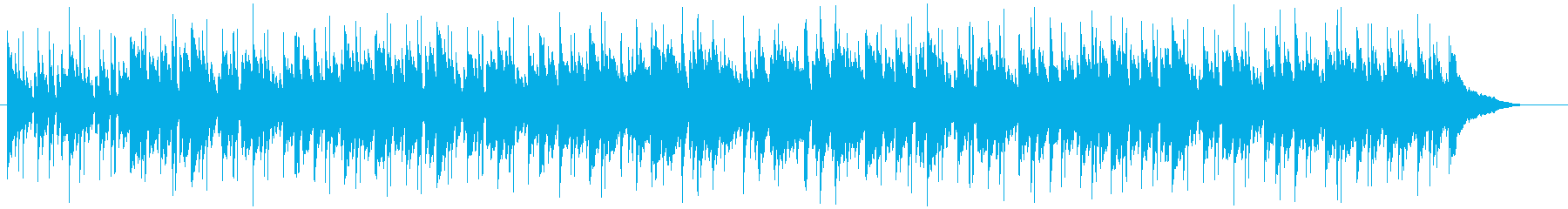 明るい雰囲気のボサノバの再生済みの波形