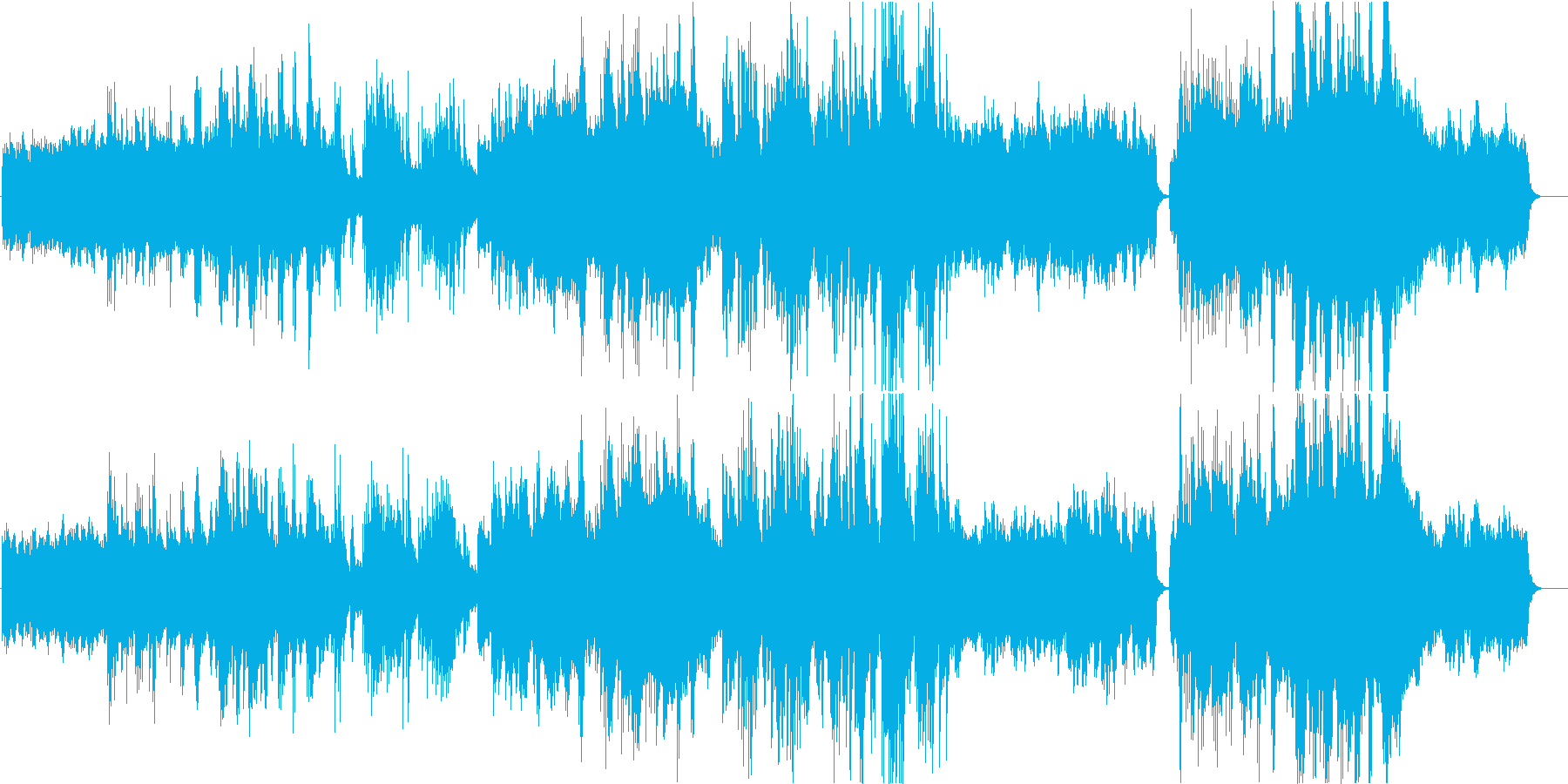 涼しげなヒーリング曲の再生済みの波形