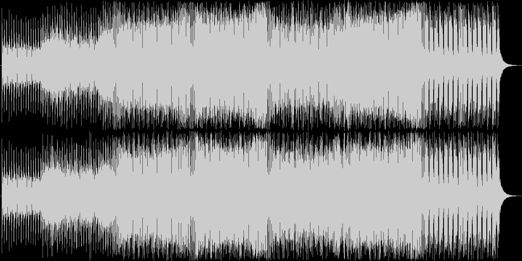 何かが始まる予感のする低音ビートの未再生の波形