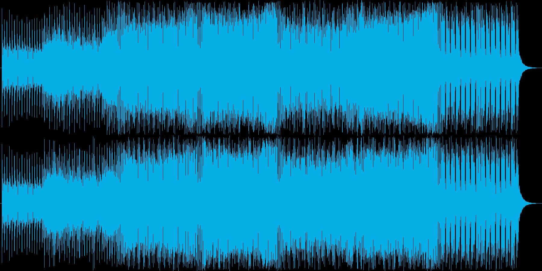 何かが始まる予感のする低音ビートの再生済みの波形