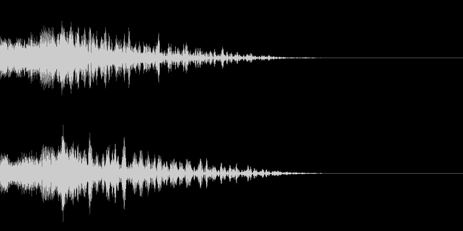 決定ボタン音、ゲームセレクト音系の未再生の波形