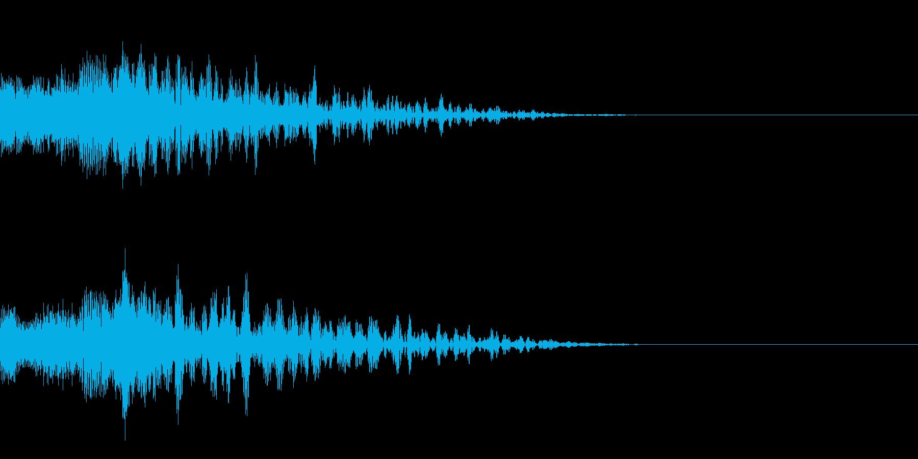 決定ボタン音、ゲームセレクト音系の再生済みの波形