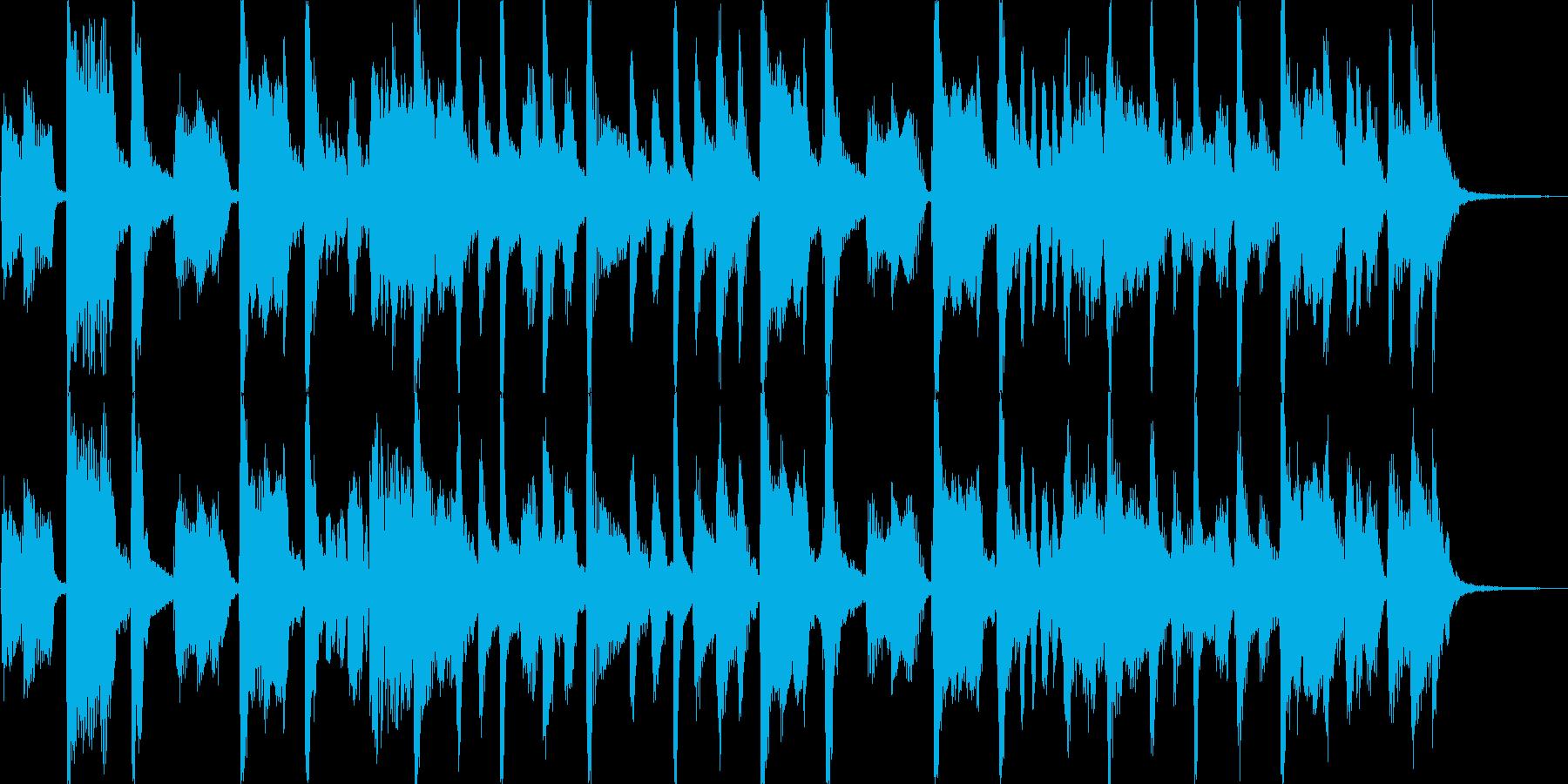 キーボードメインの軽快なロック風ジングルの再生済みの波形