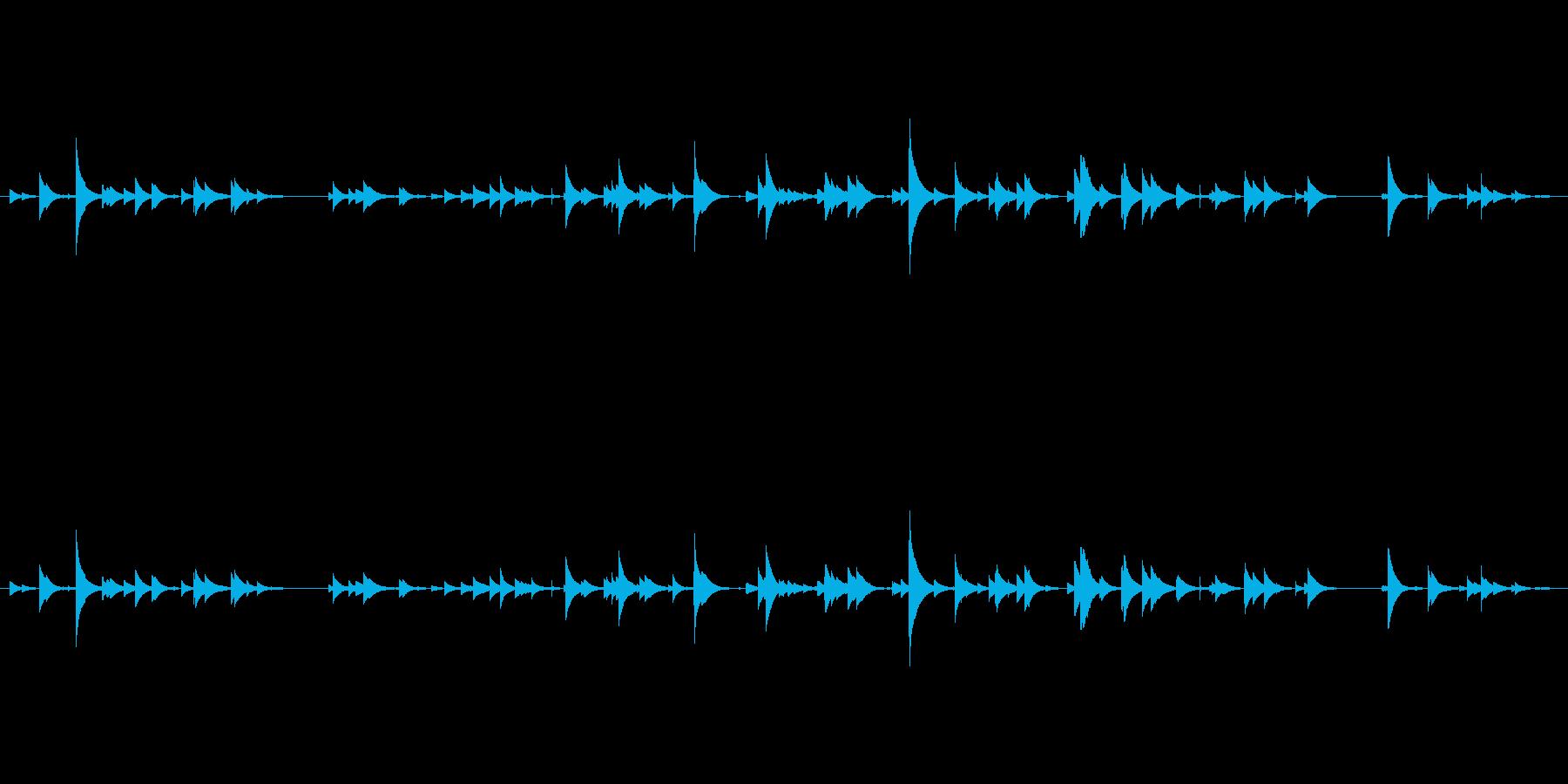 南部鉄器風鈴を1分強録音しました。サイ…の再生済みの波形