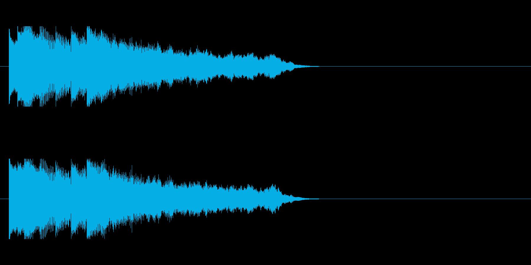 綺麗で幻想的な雰囲気のサウンドロゴの再生済みの波形