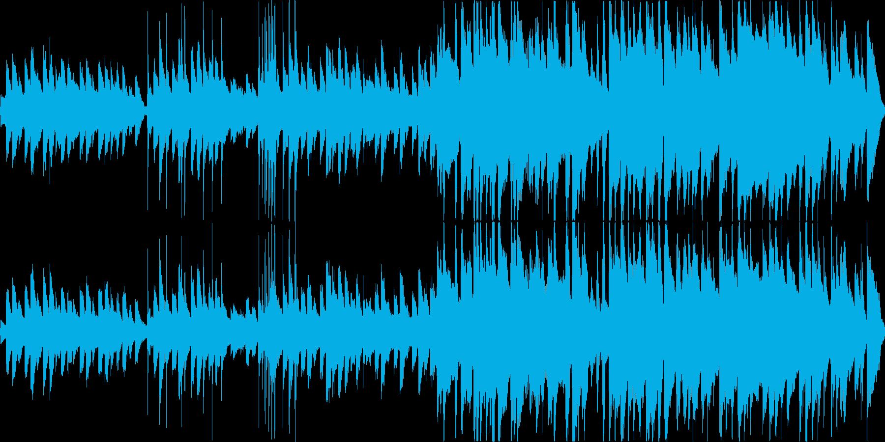 ほのぼのと可愛い雰囲気のワルツの再生済みの波形