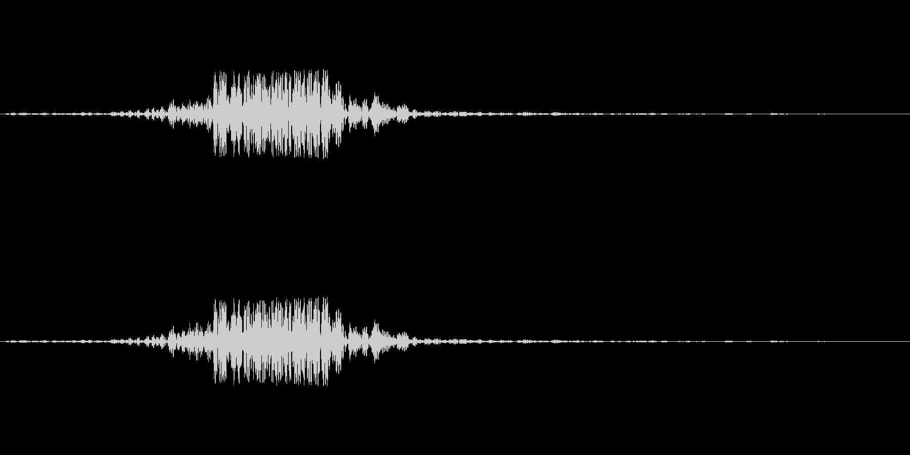 映画の効果音 その3の未再生の波形