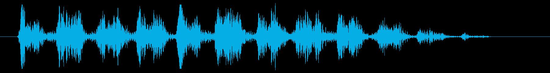 ワゥワゥワゥ 効果音シンセ LOWの再生済みの波形