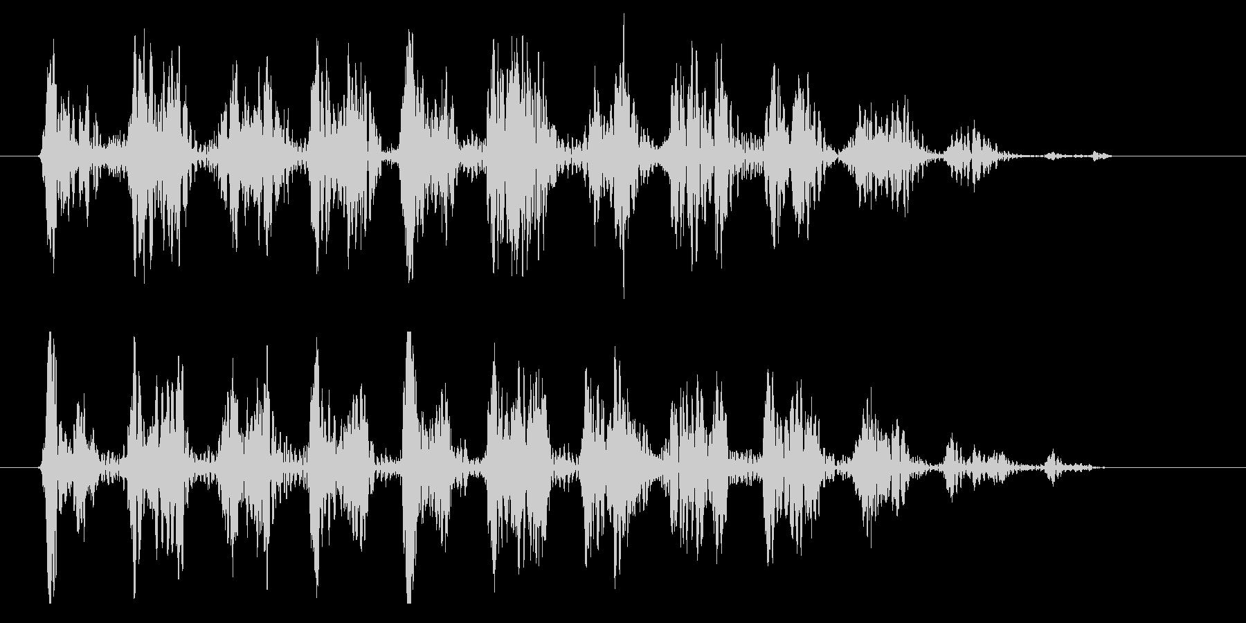 ワゥワゥワゥ 効果音シンセ LOWの未再生の波形