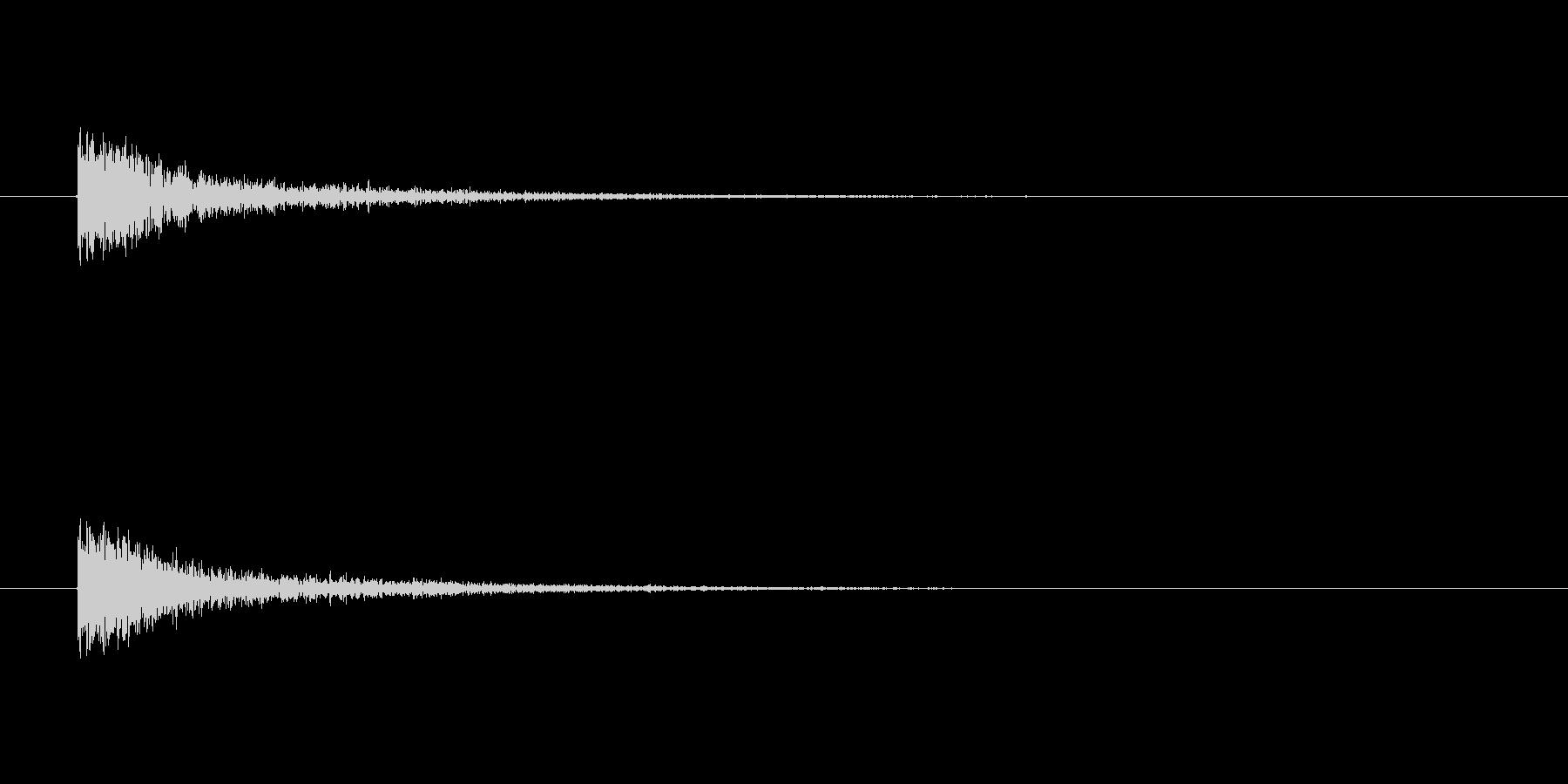 【カスタネット02-8】の未再生の波形