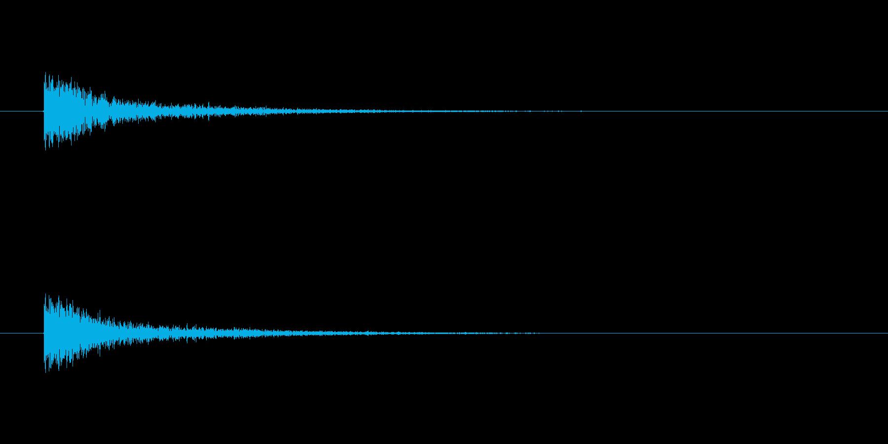 【カスタネット02-8】の再生済みの波形