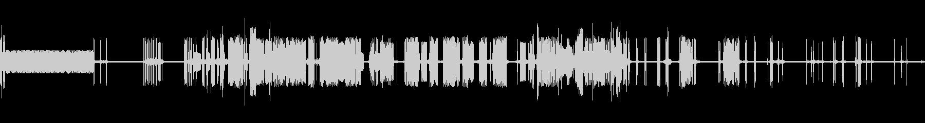 ピキピキの未再生の波形