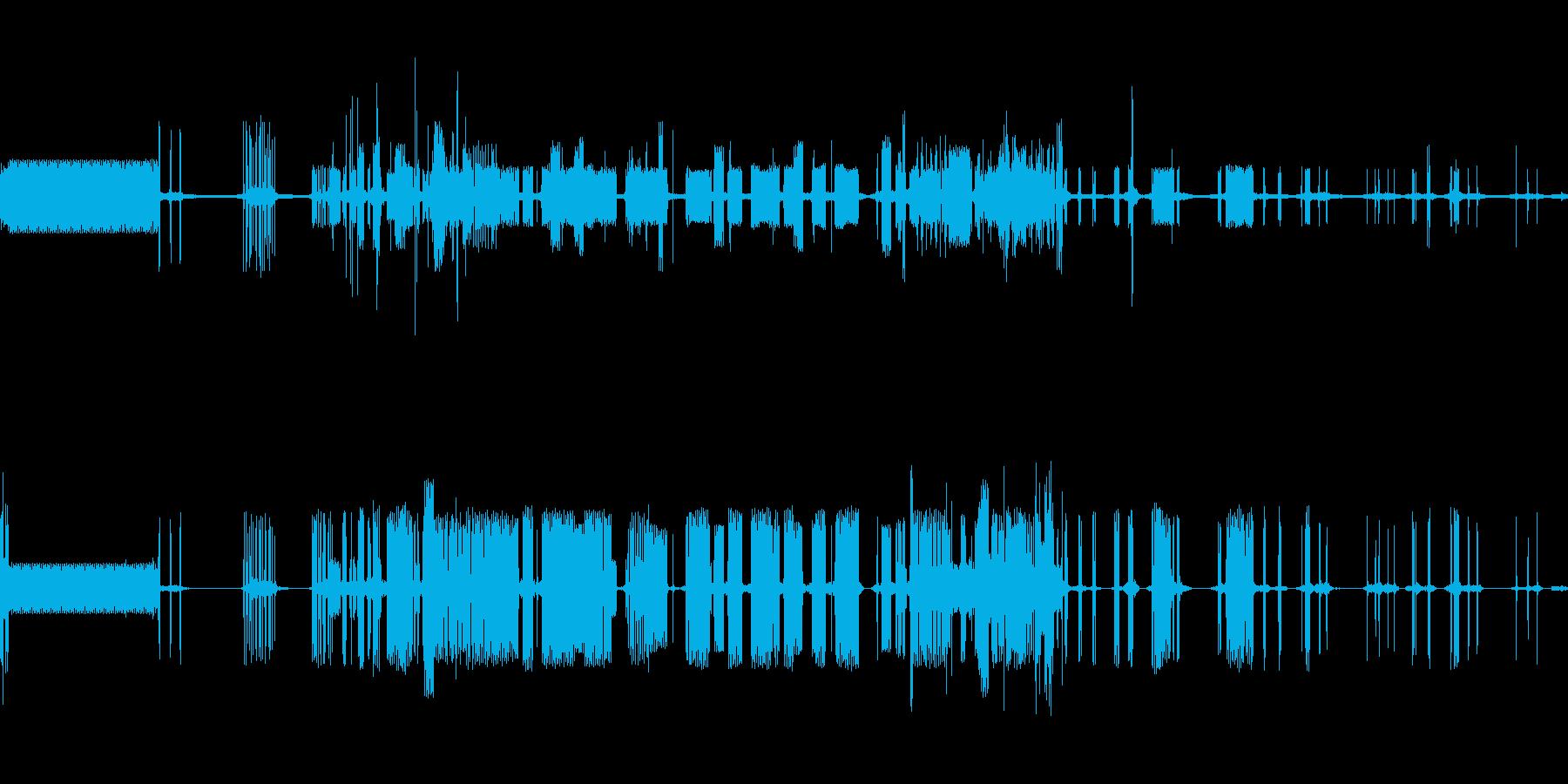 ピキピキの再生済みの波形