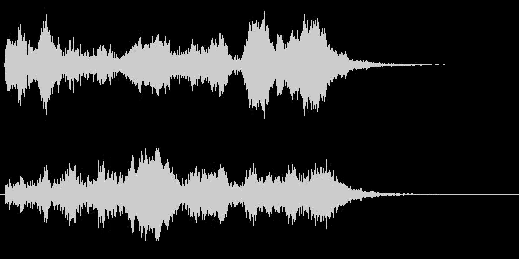 オルゴールとストリングスの優しいジングルの未再生の波形