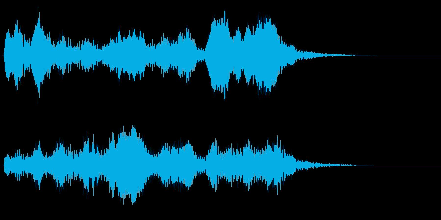 オルゴールとストリングスの優しいジングルの再生済みの波形