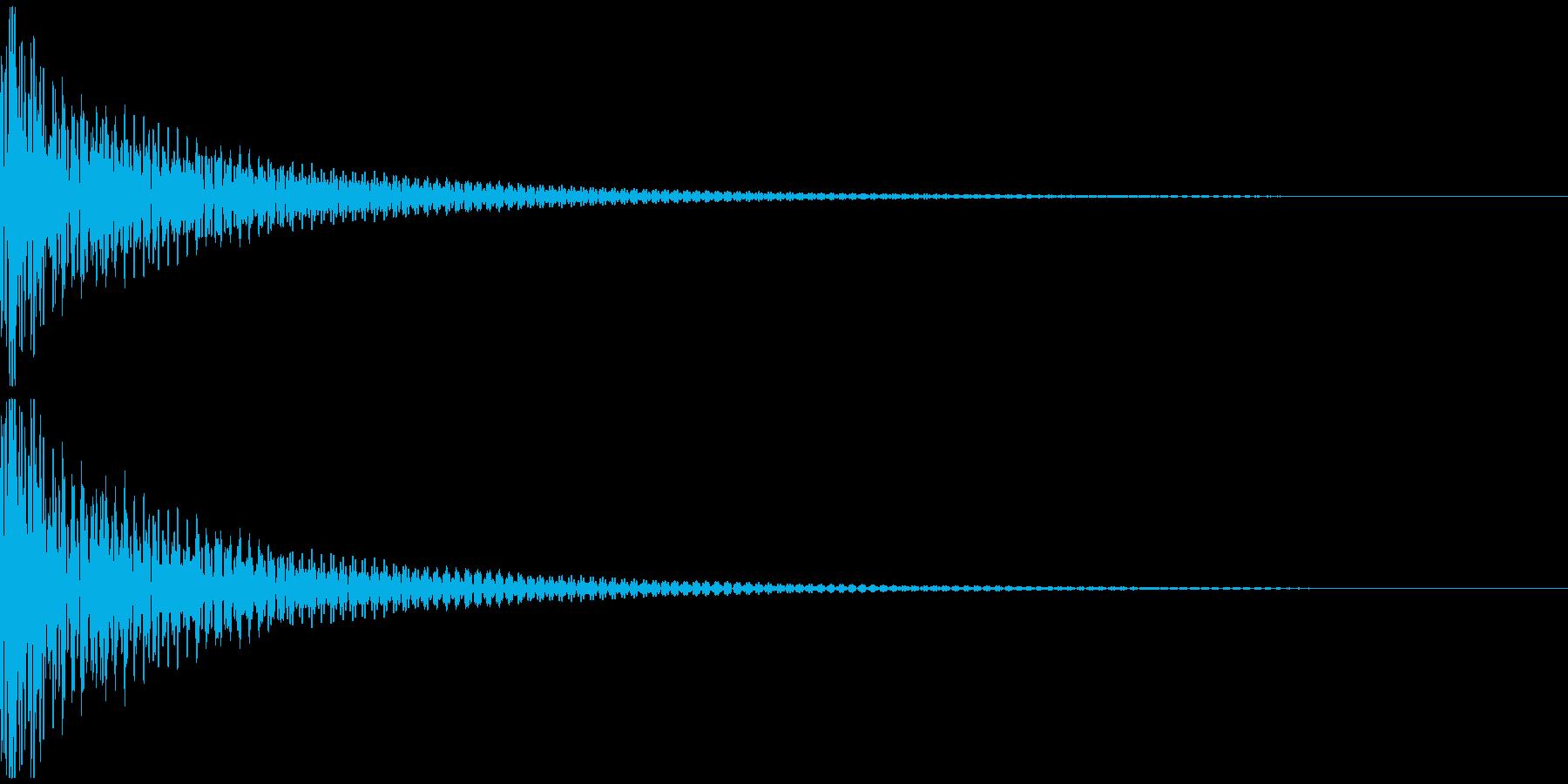 ドン(和太鼓一発)の再生済みの波形
