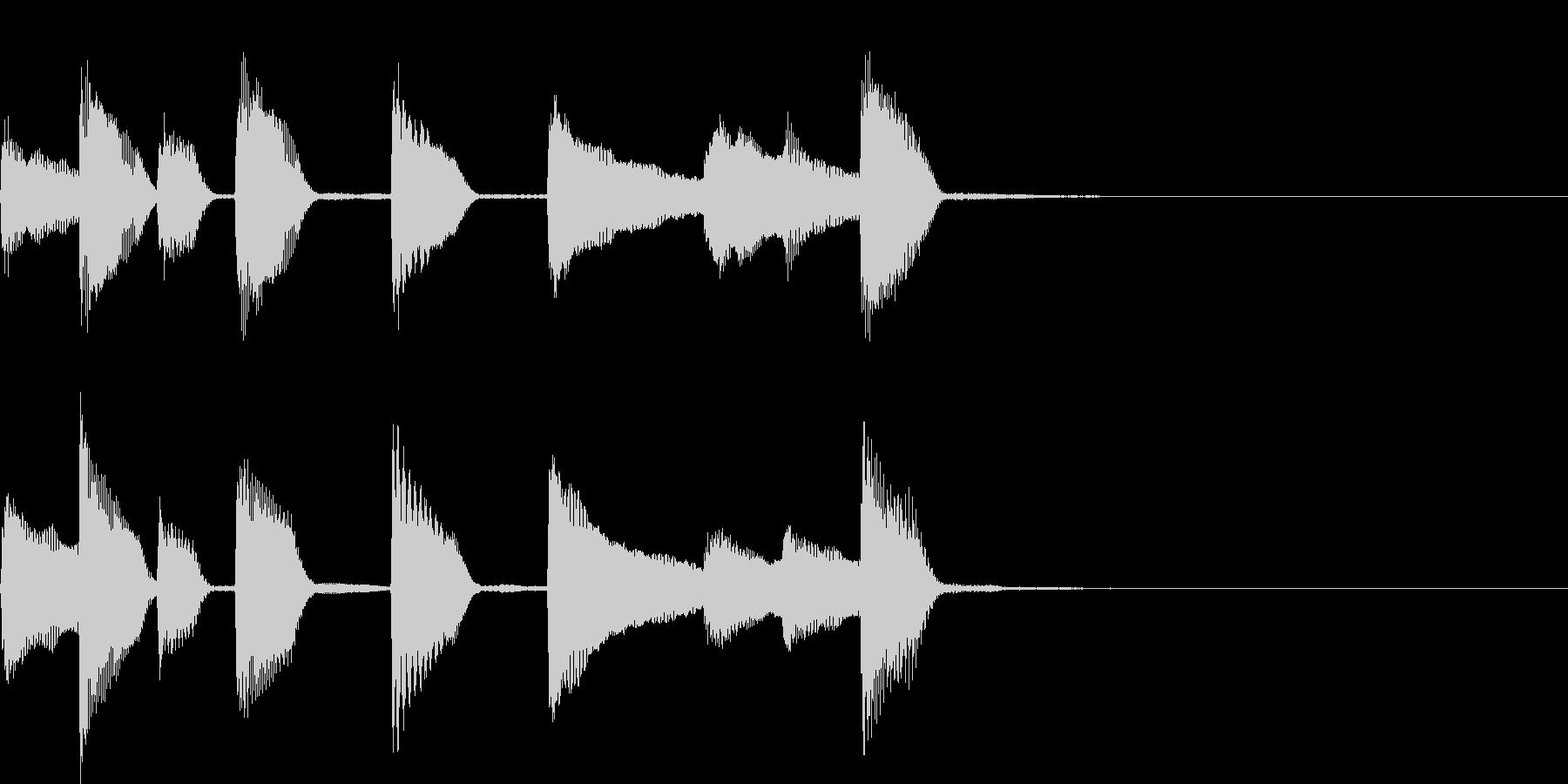 軽快なピアノジングルの未再生の波形