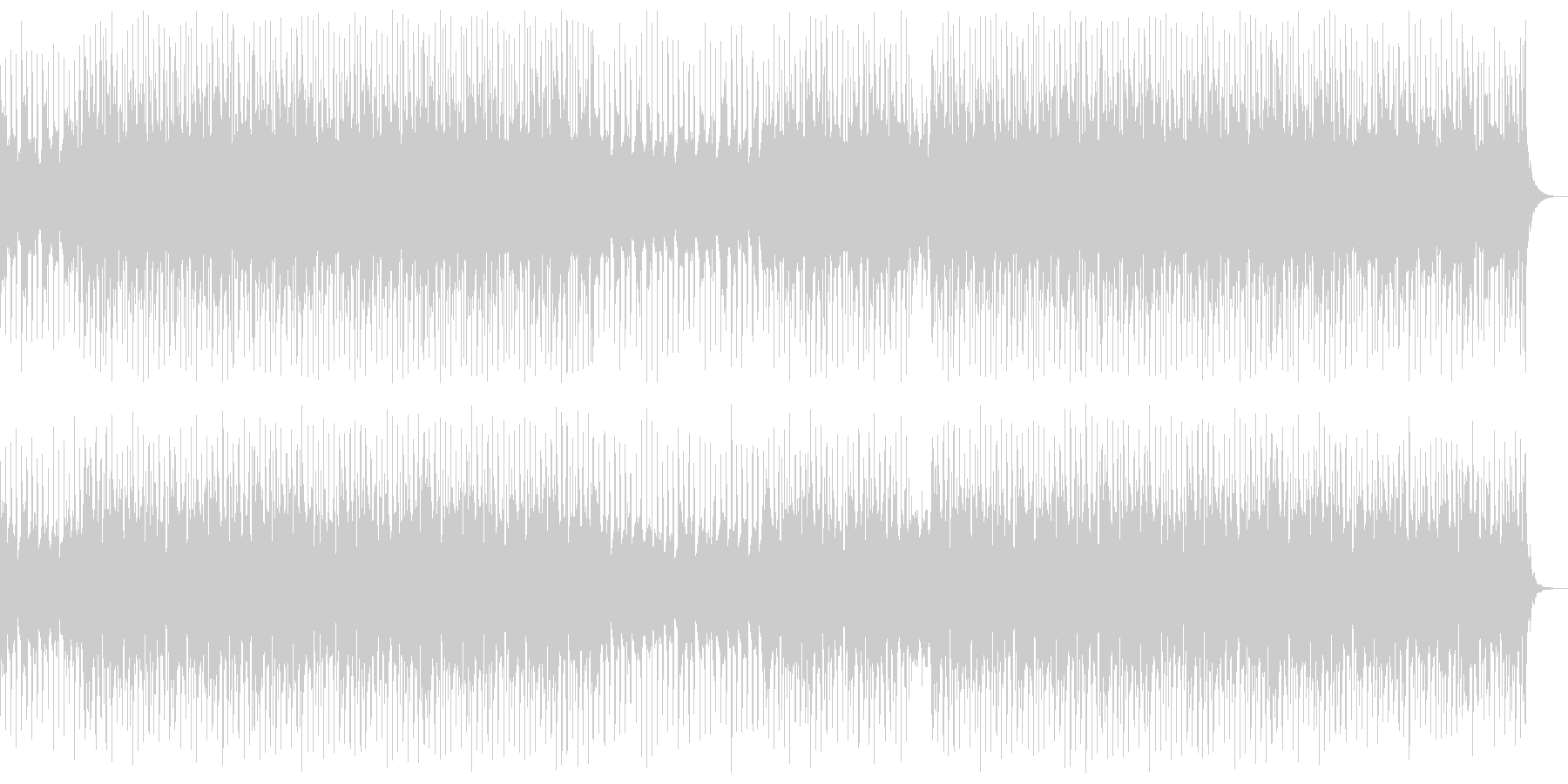 ドラムとピアノがメインの感動系BGMの未再生の波形