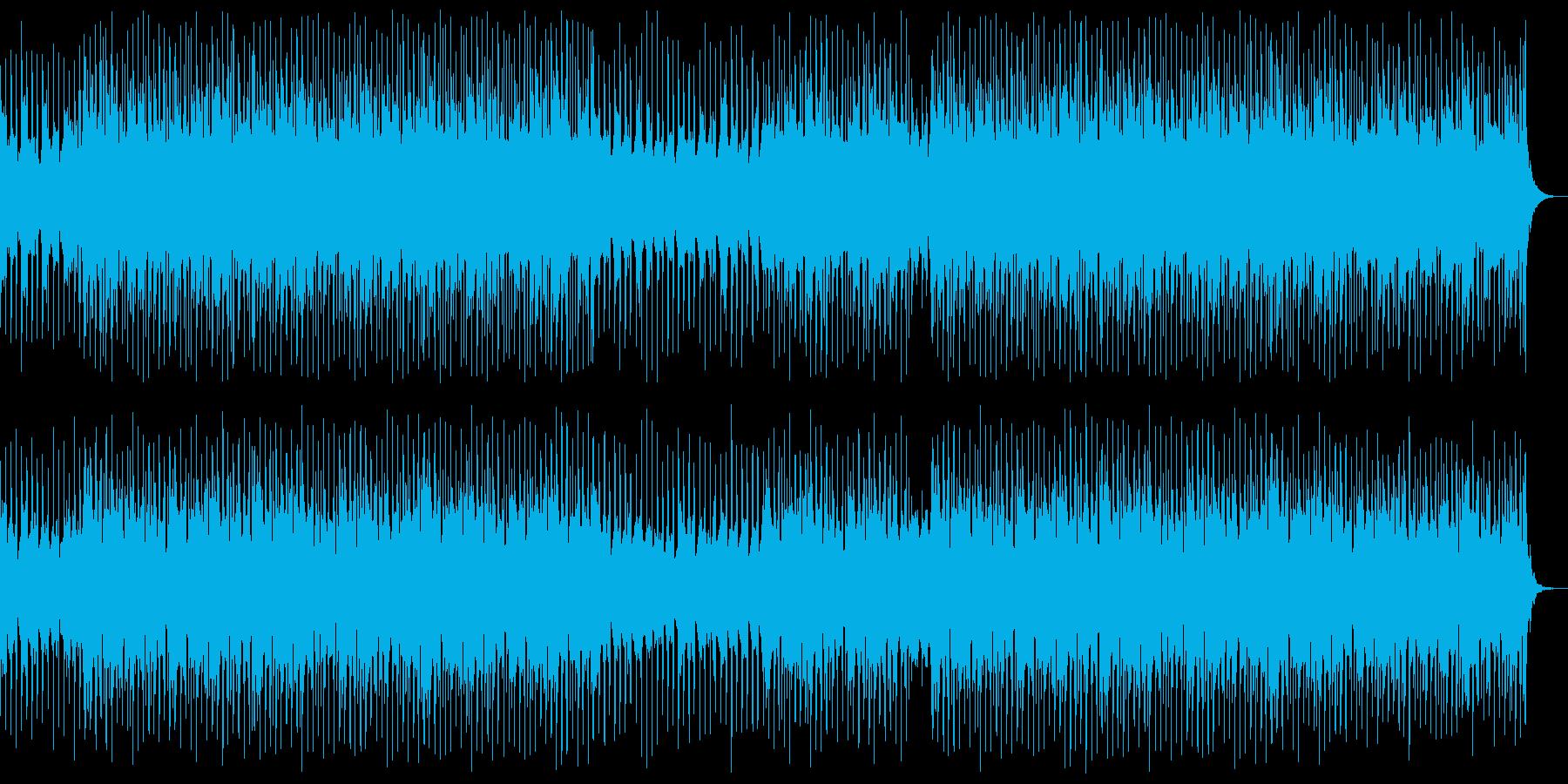 ドラムとピアノがメインの感動系BGMの再生済みの波形
