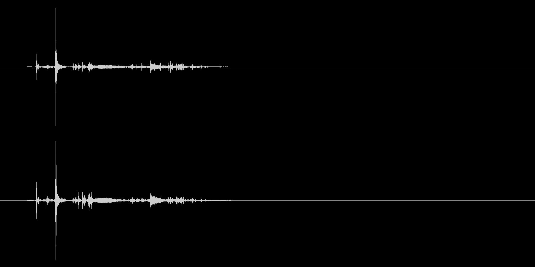 ポッチャン!池ポチャの音1の未再生の波形