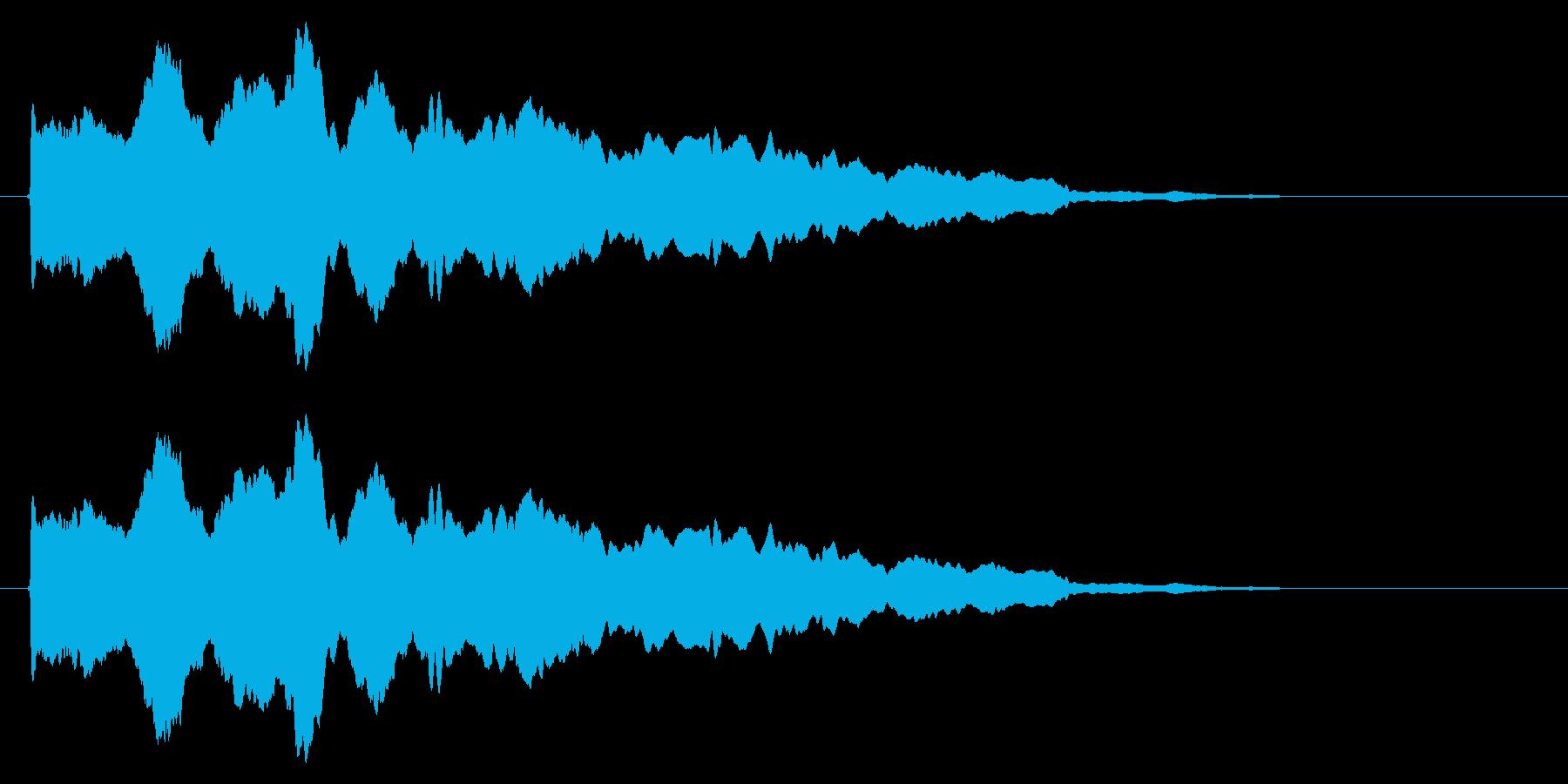スライド笛/風船/しぼむ/カートゥーンの再生済みの波形