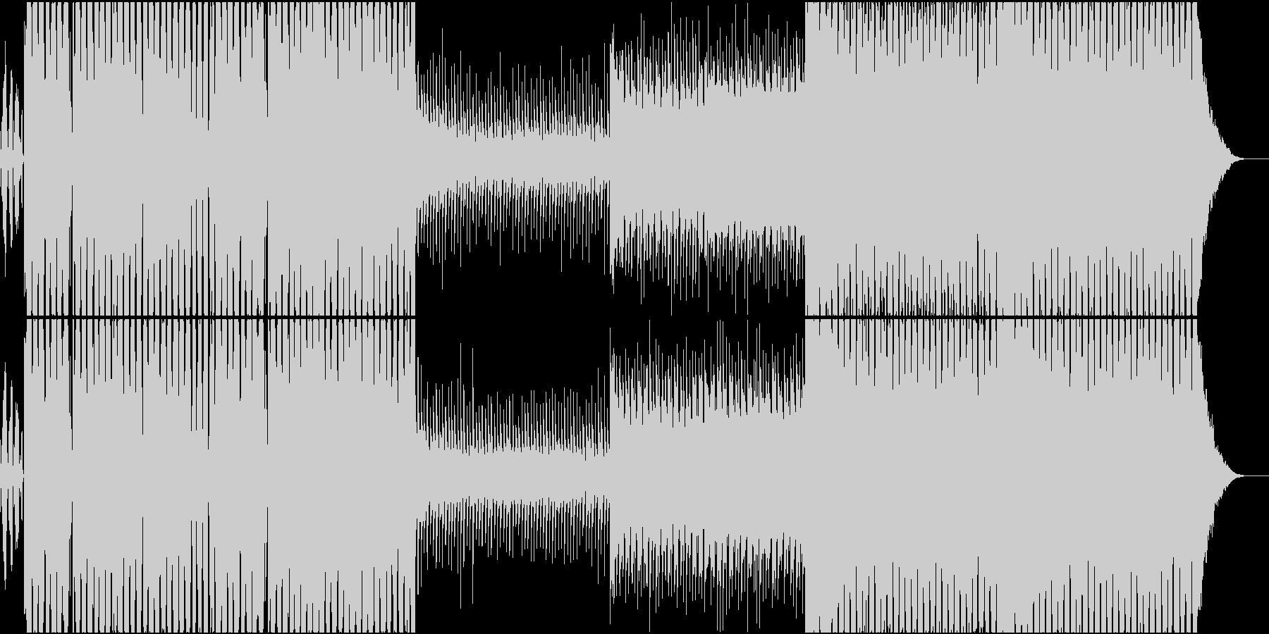 エッジの効いたダブステップ風美メロEDMの未再生の波形