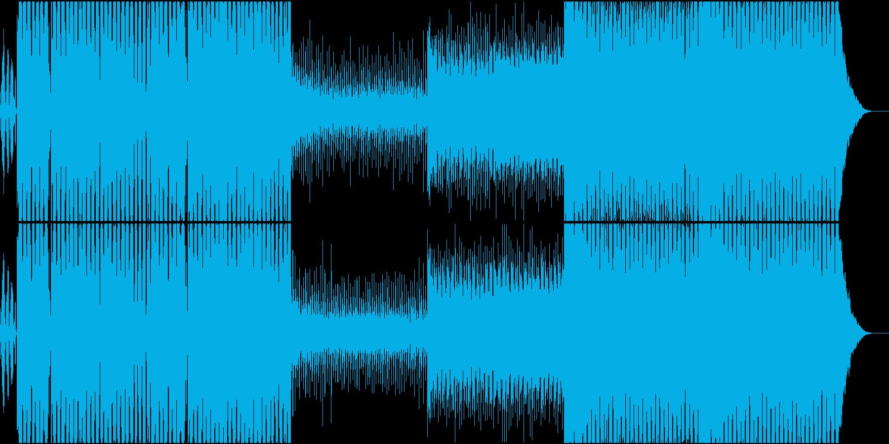 エッジの効いたダブステップ風美メロEDMの再生済みの波形
