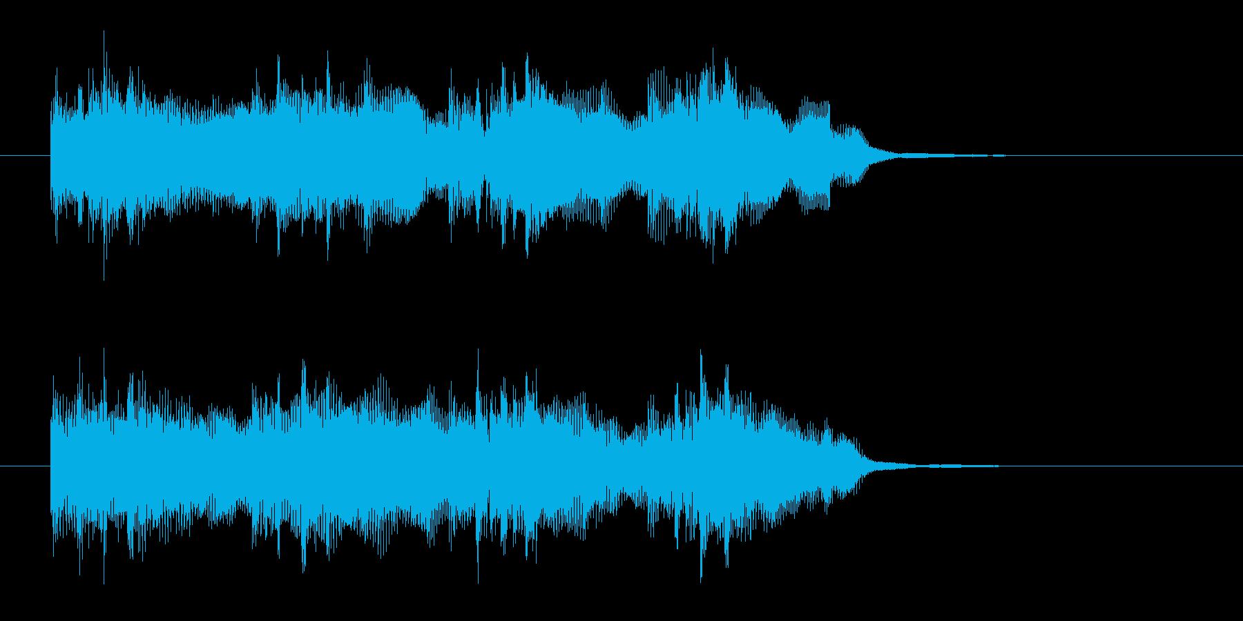 都会的なベースサウンドのイントロの再生済みの波形