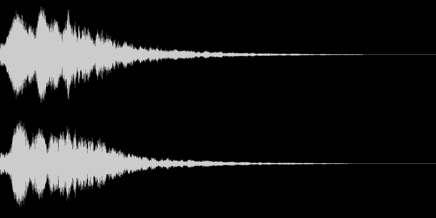 明るいテロップ音 ボタン音 決定音!06の未再生の波形