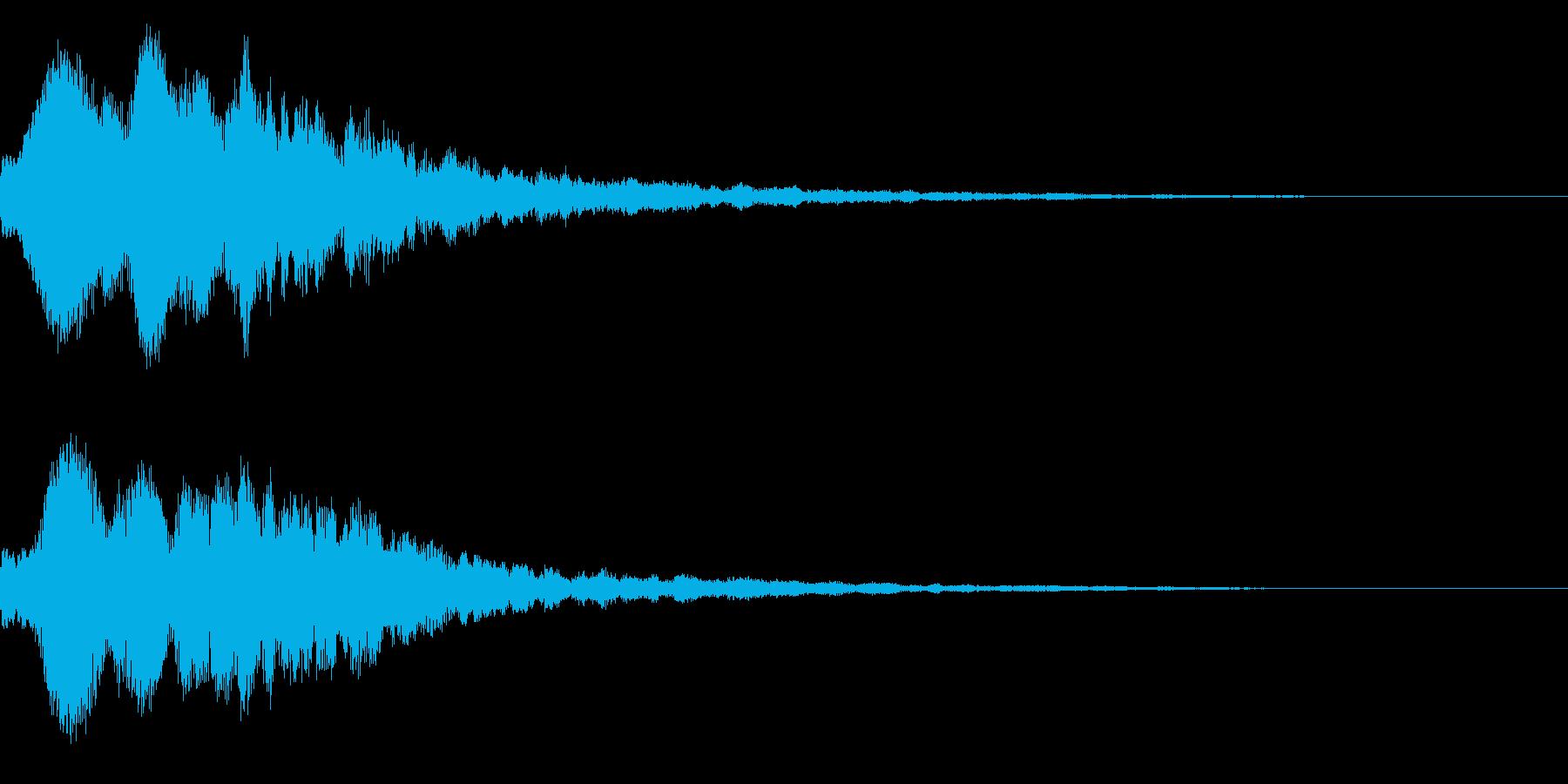 明るいテロップ音 ボタン音 決定音!06の再生済みの波形
