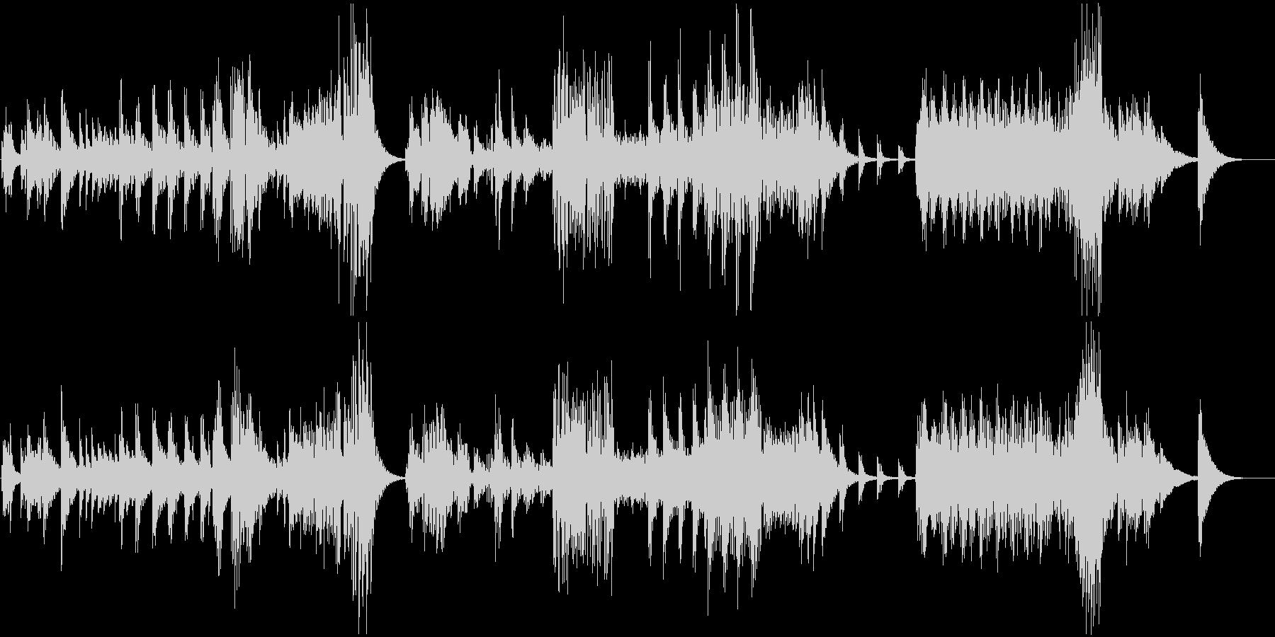 静かで幻想的なE・ピアノの曲の未再生の波形