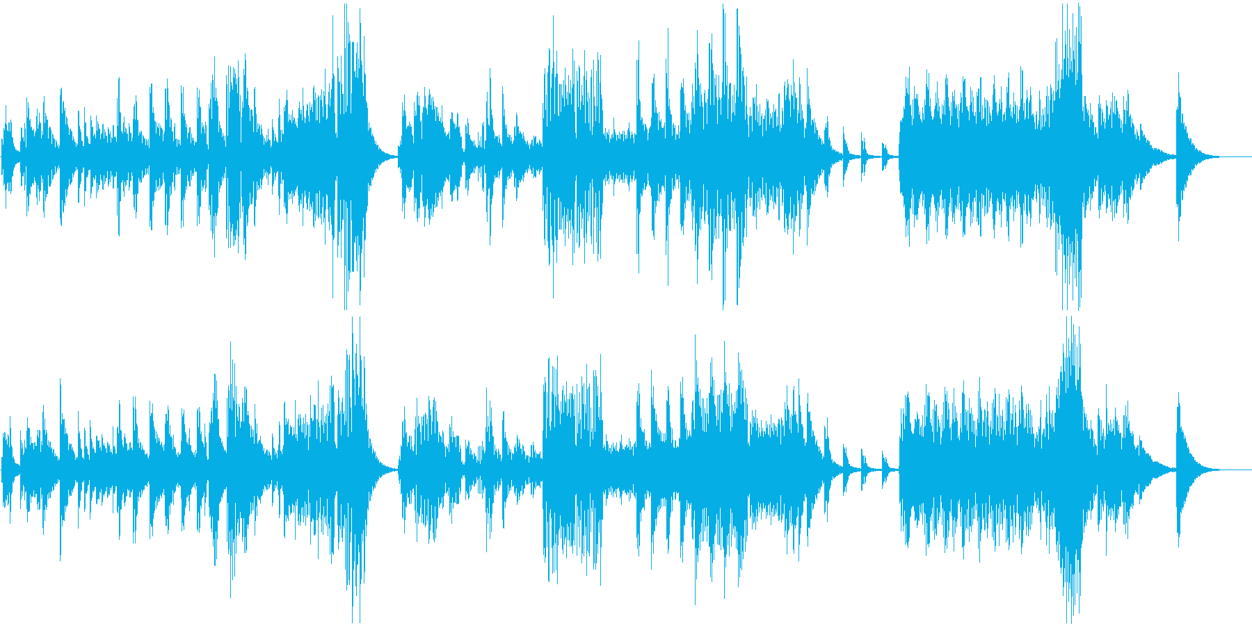 静かで幻想的なE・ピアノの曲の再生済みの波形