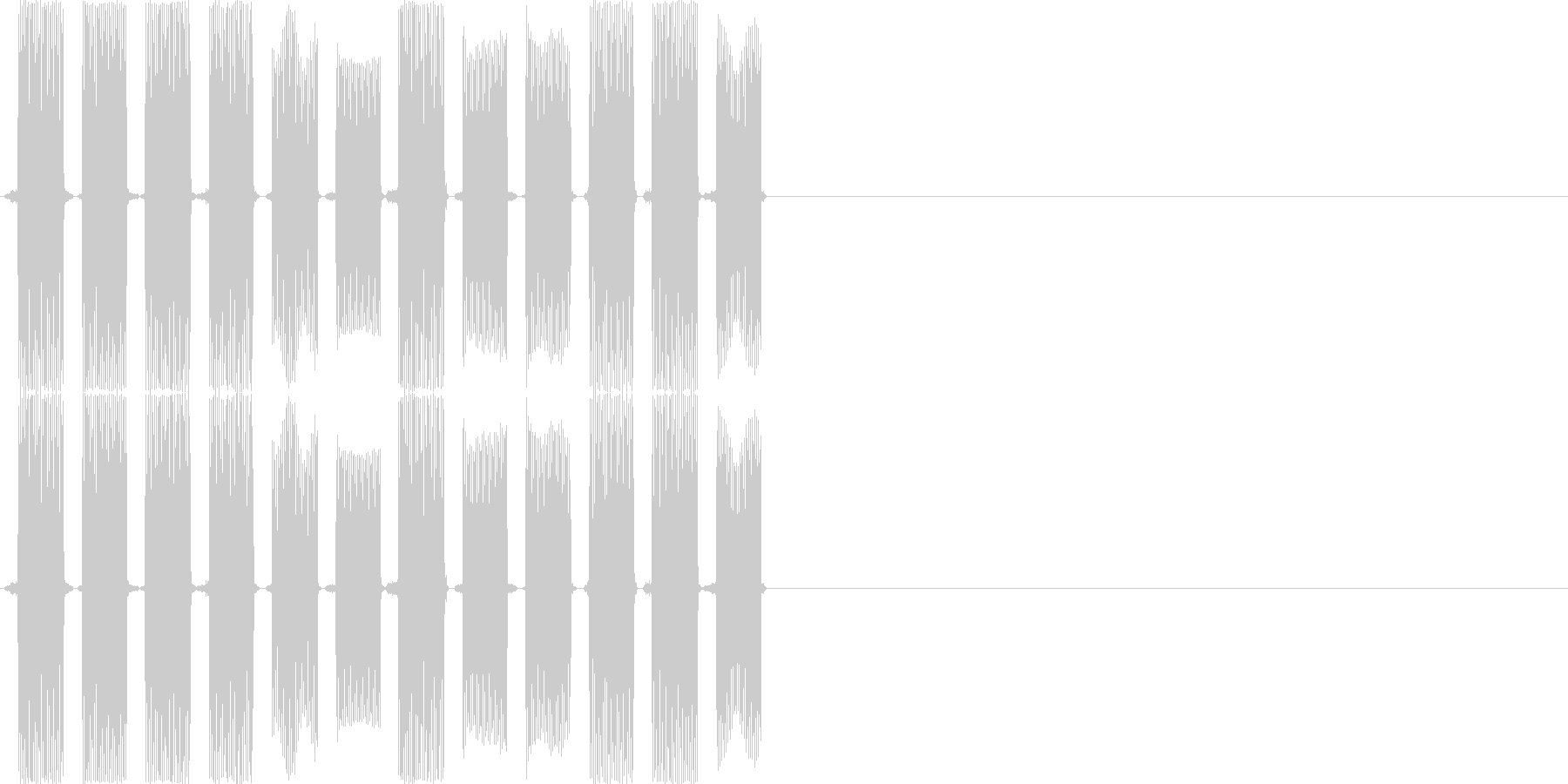 ピロリロピロリロ(PC、ロボット)の未再生の波形