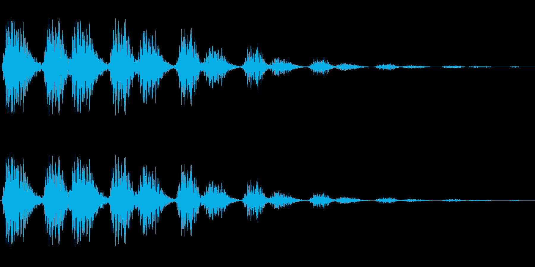 ビヨビヨ(伸びたバネのような音)の再生済みの波形