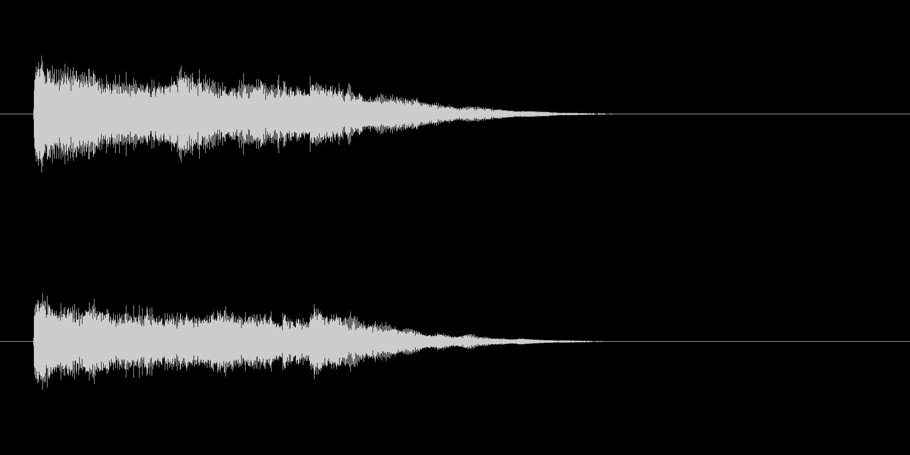 ジングル(ミステリー・タッチ)の未再生の波形